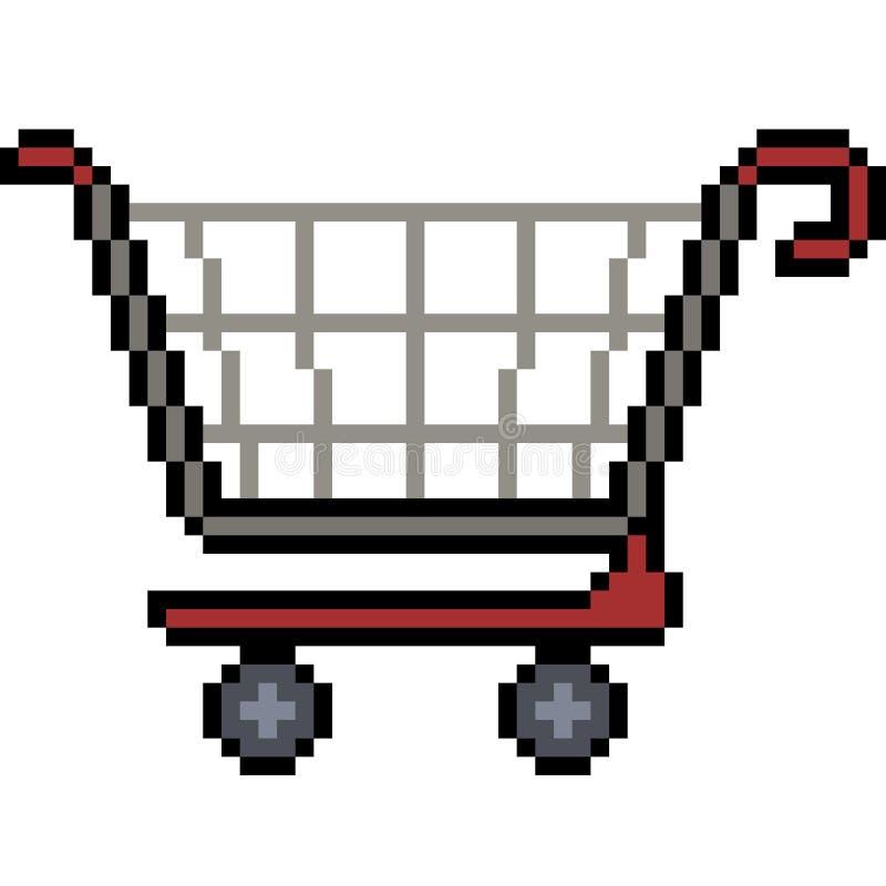 Wektorowy piksel sztuki zakupy royalty ilustracja
