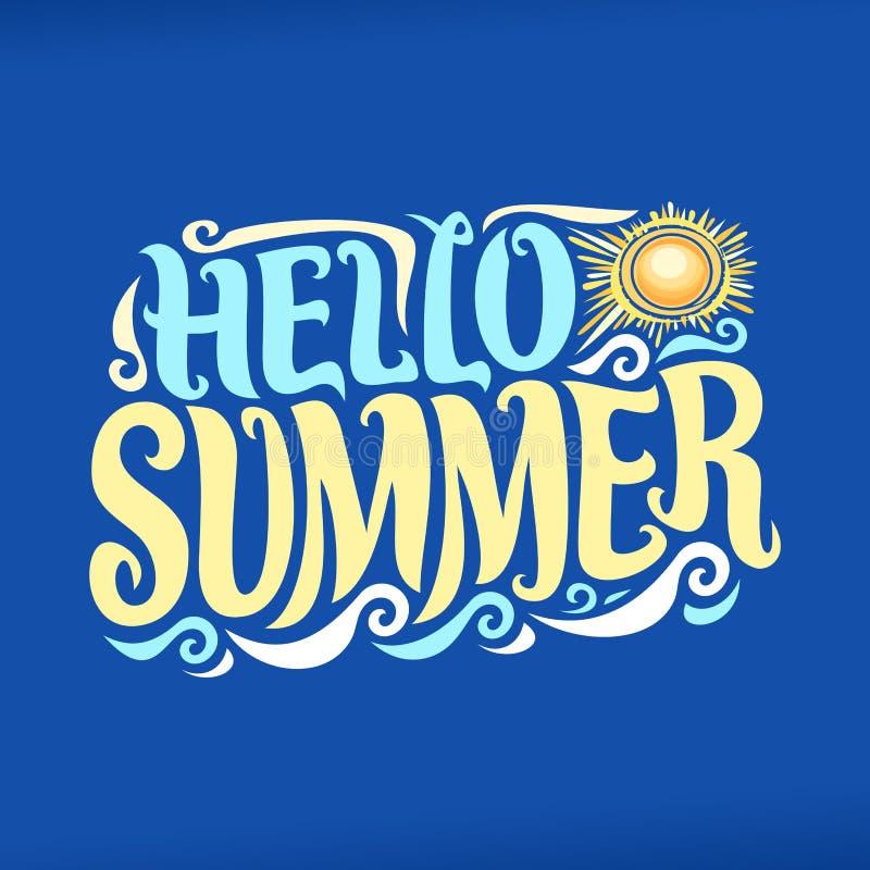 Download Wektorowy Plakat Dla Lato Sezonu Ilustracja Wektor - Ilustracja złożonej z plakat, sztandar: 106904103