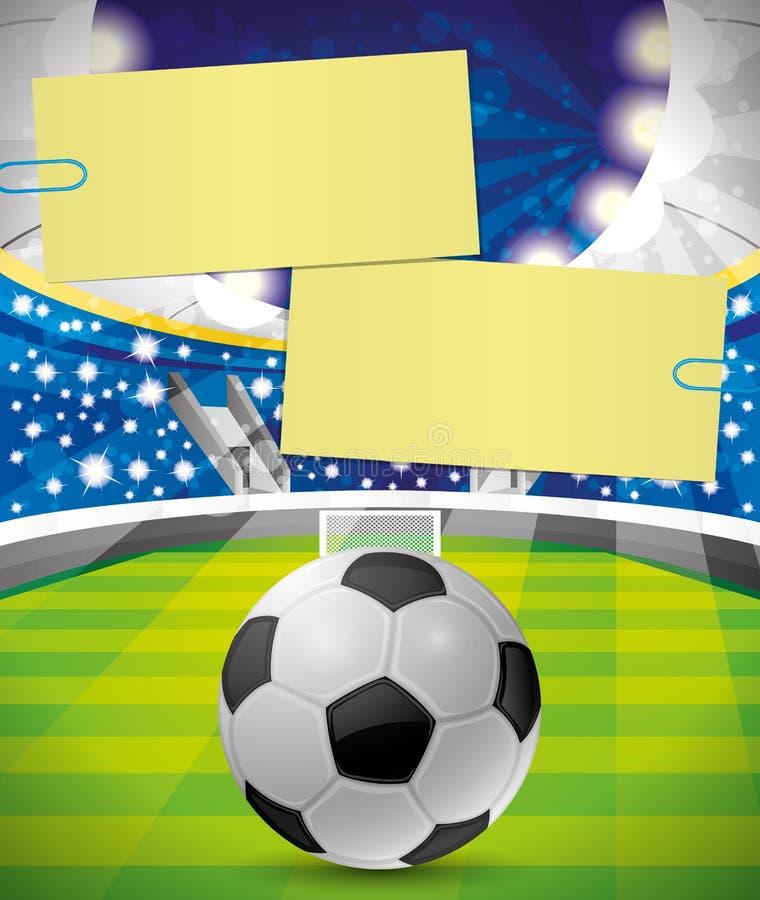 Wektorowy plakat Futbol royalty ilustracja