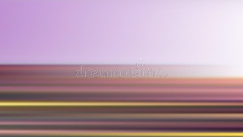 Wektorowy plamy tło z horyzontalnymi kolorowymi lampasami od kwiatu pola ilustracji