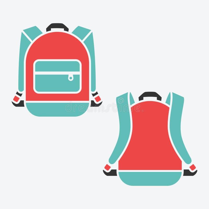 Wektorowy plecak ilustracji