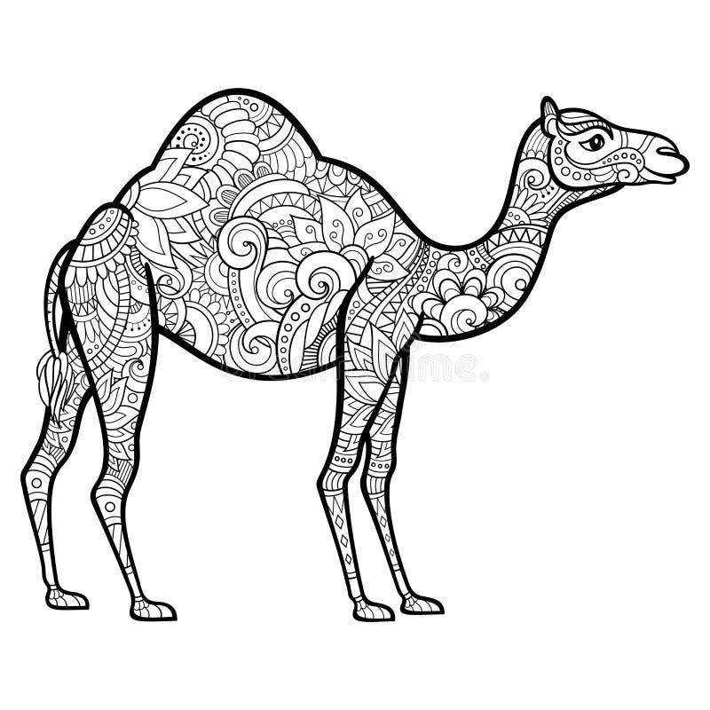 Wektorowy Plemienny Dekoracyjny wielbłąd royalty ilustracja