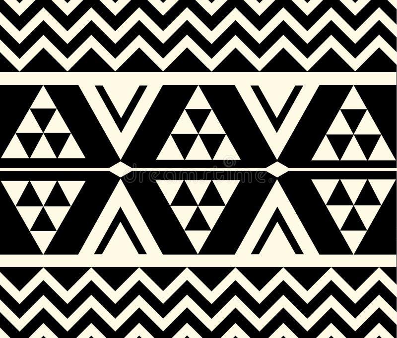 Wektorowy plemienny etniczny wzór ilustracji