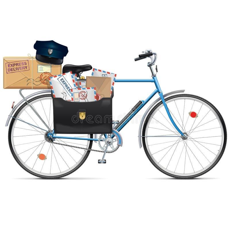Wektorowy Pocztowy bicykl ilustracja wektor