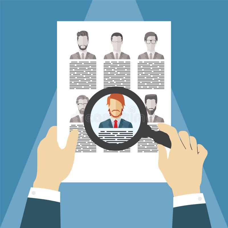 Wektorowy pojęcie działu zasobów ludzkich zarządzanie ilustracji