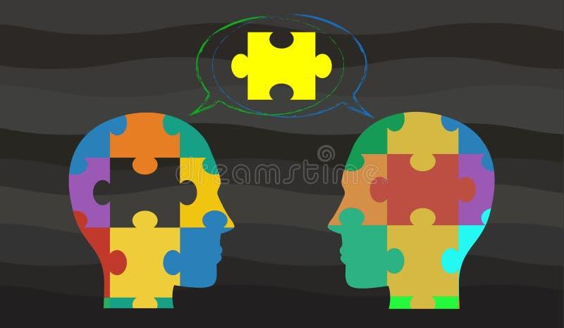 Wektorowy pojęcie wskazuje pomysł brainstorming, dyskusja/ ilustracja wektor