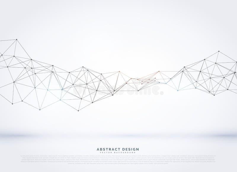 wektorowy poligonalny abstrakcjonistyczny sieci wireframe tło ilustracja wektor