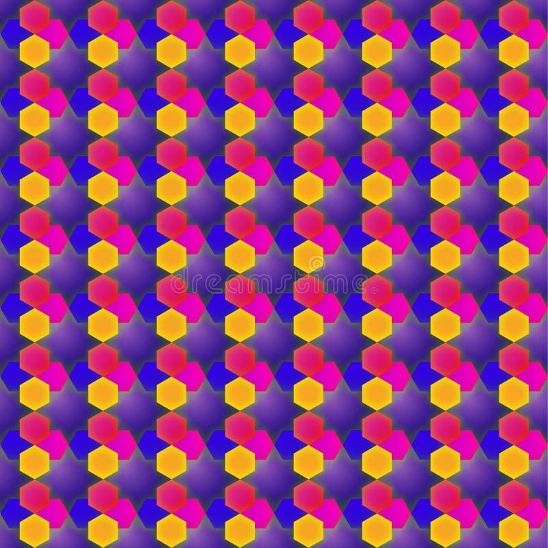 Wektorowy poligonalny projekt z gwiazdą i prostokątem fotografia stock