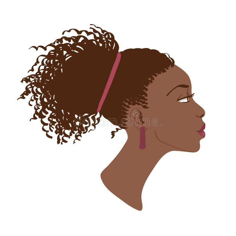 Wektorowy portret piękny kobieta profil ilustracja wektor