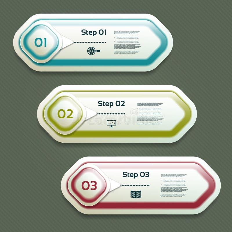 Wektorowy postępu tło Produkt wersja lub wybór 10 eps ilustracja wektor