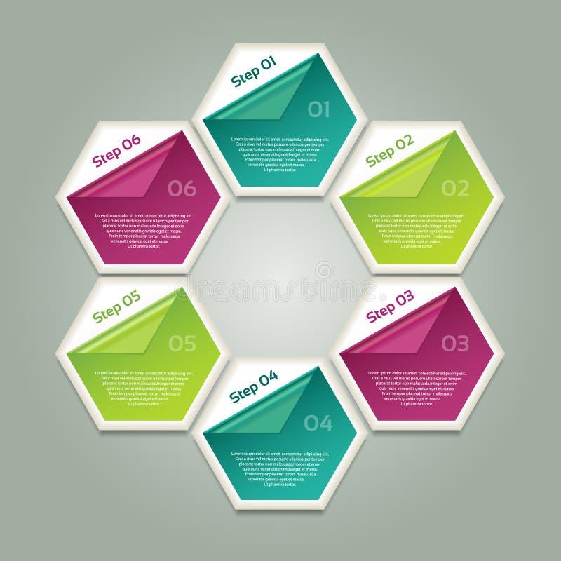Wektorowy postępu tło, produkt wersja, wybór/lub. royalty ilustracja