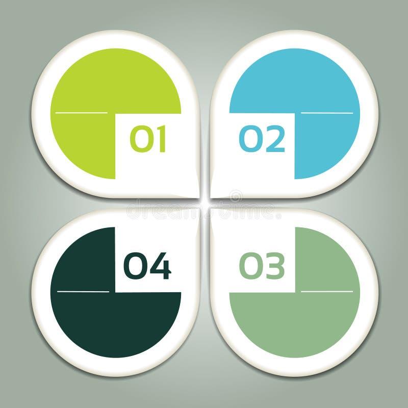 Wektorowy postępu tło, produkt wersja, wybór/lub. ilustracji