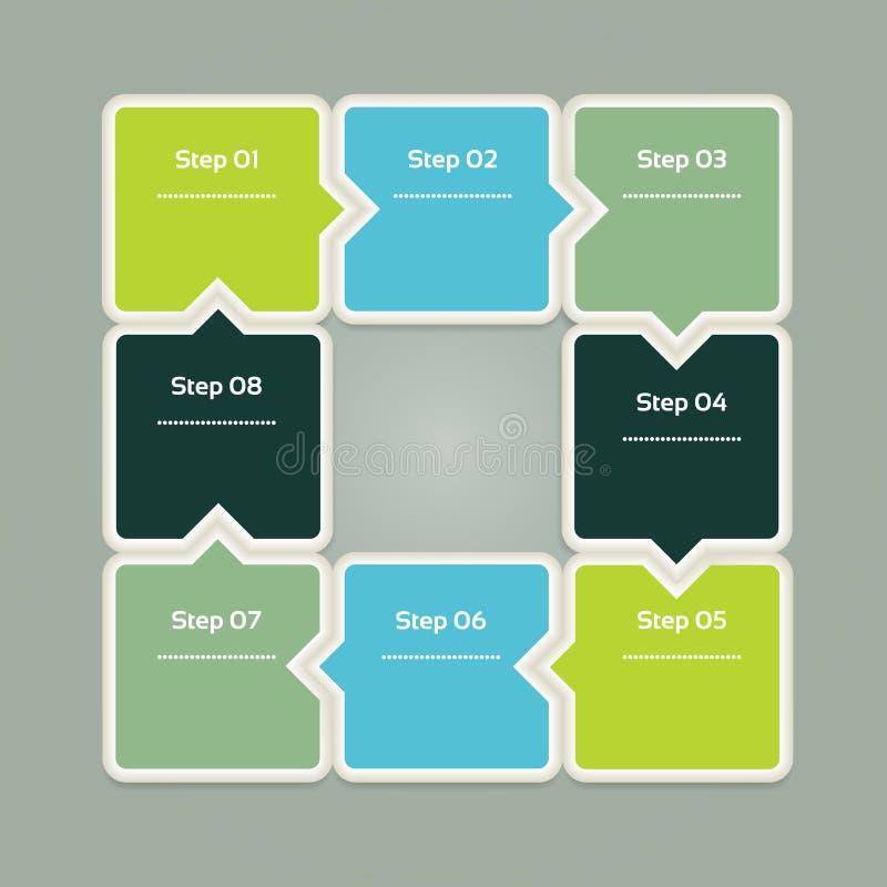 Wektorowy postępu tło, produkt wersja, wybór/lub. ilustracja wektor