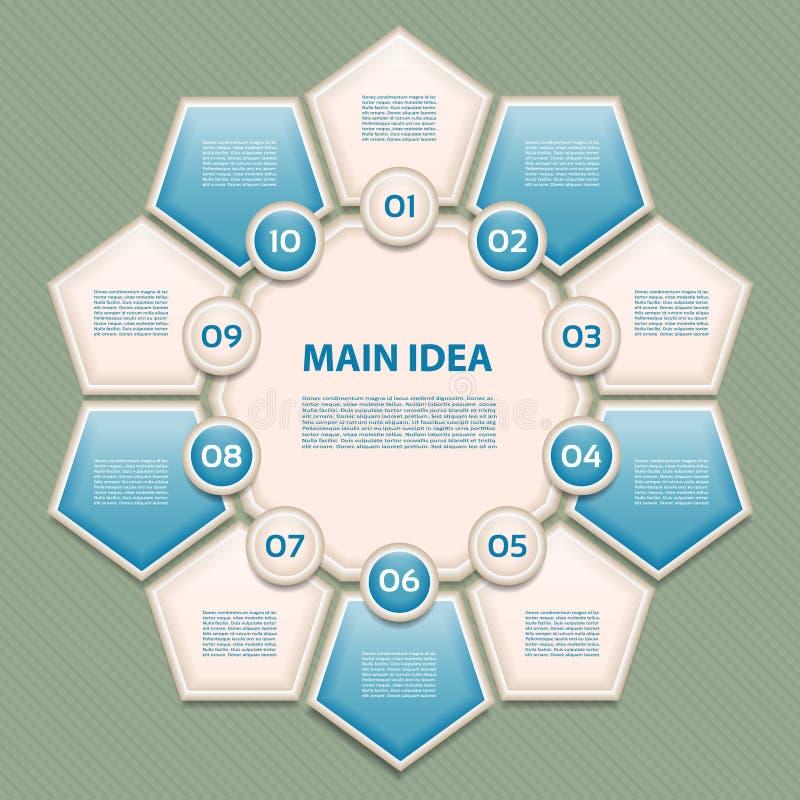 Wektorowy postępu tło, produkt wersja, wybór/lub ilustracja wektor