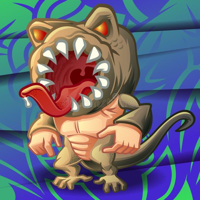 Wektorowy potwór na tle ilustracja wektor