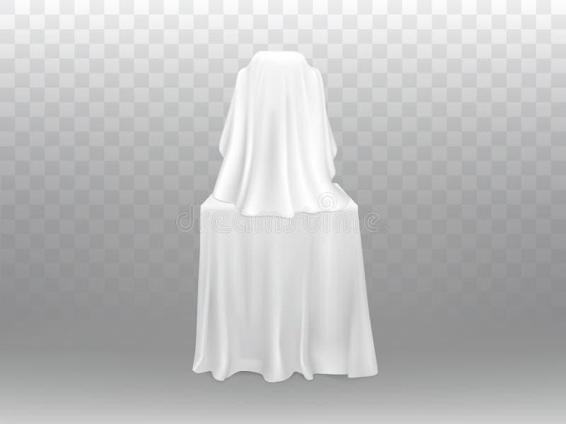 Wektorowy powystawowy pojęcie - ekspozycja pod białą odzieżą royalty ilustracja