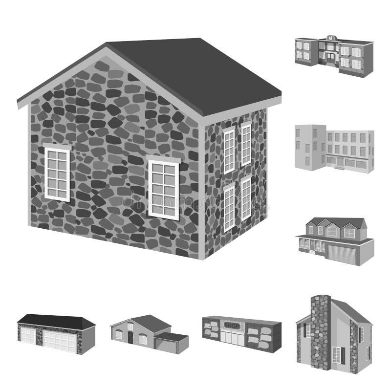 Wektorowy projekt architektury i nieruchomo?ci znak Kolekcja architektura i lokalowy akcyjny symbol dla sieci ilustracja wektor