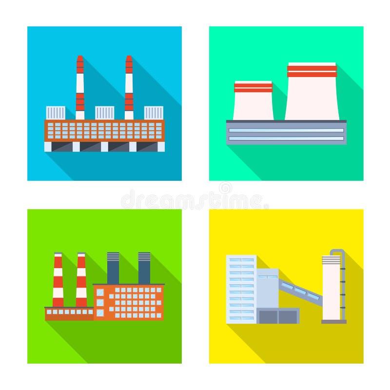 Wektorowy projekt architektury i technologii znak Set architektura i budynek akcyjna wektorowa ilustracja ilustracji