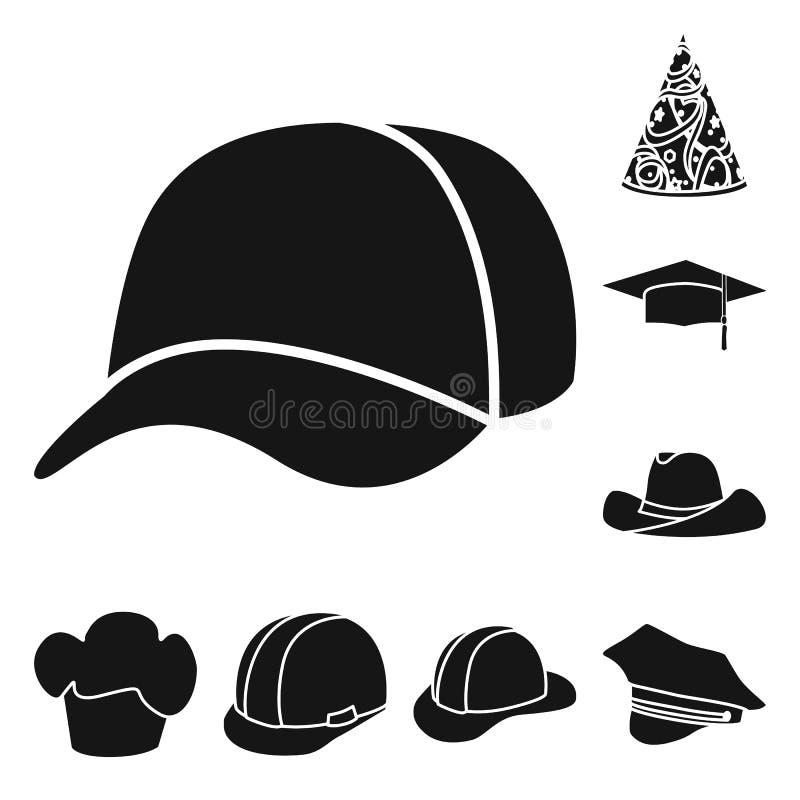 Wektorowy projekt beanie i bereta symbol Kolekcja beanie i je?arki wektorowa ikona dla zapasu ilustracja wektor