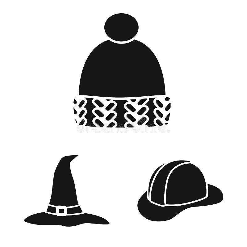 Wektorowy projekt beanie i bereta symbol Set beanie i je?arki akcyjny symbol dla sieci ilustracja wektor