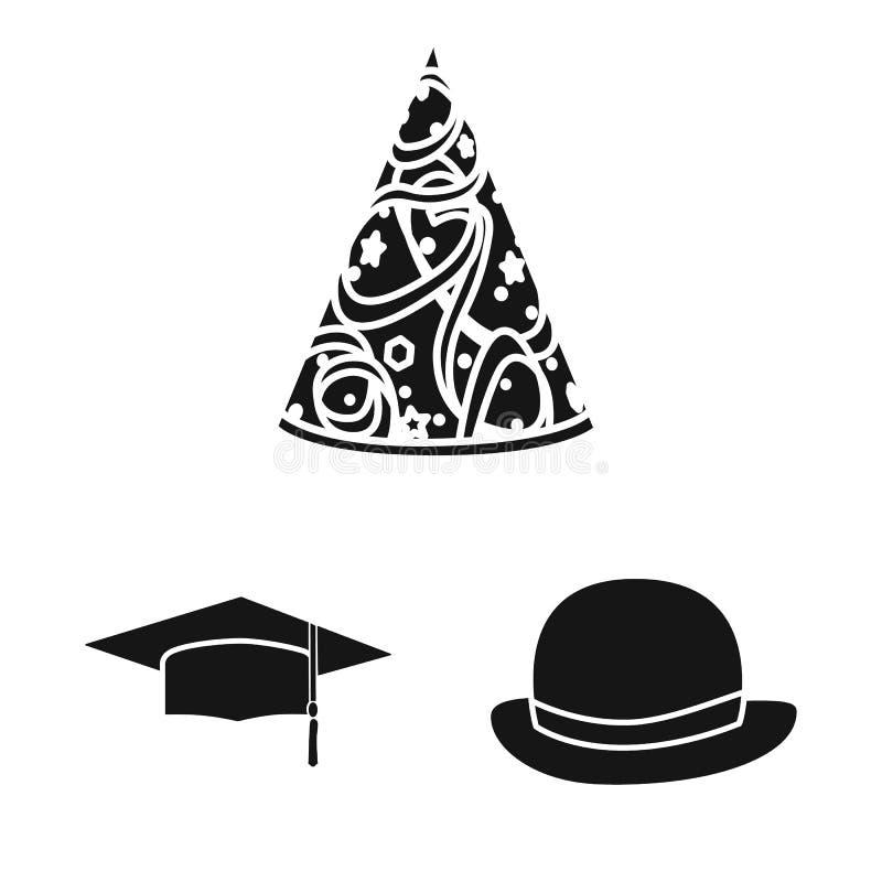 Wektorowy projekt beanie i bereta znak Kolekcja beanie i je?arki akcyjna wektorowa ilustracja ilustracji