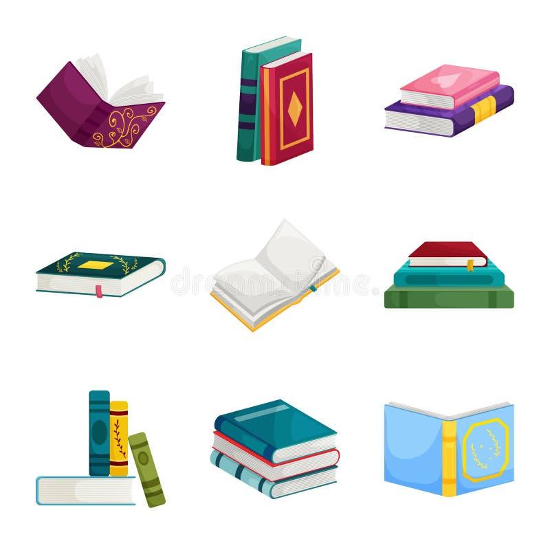 Wektorowy projekt biblioteki i bookstore logo E ilustracja wektor