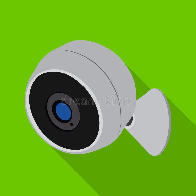 Wektorowy projekt cctv i kamery ikona Kolekcja cctv i systemu akcyjna wektorowa ilustracja royalty ilustracja