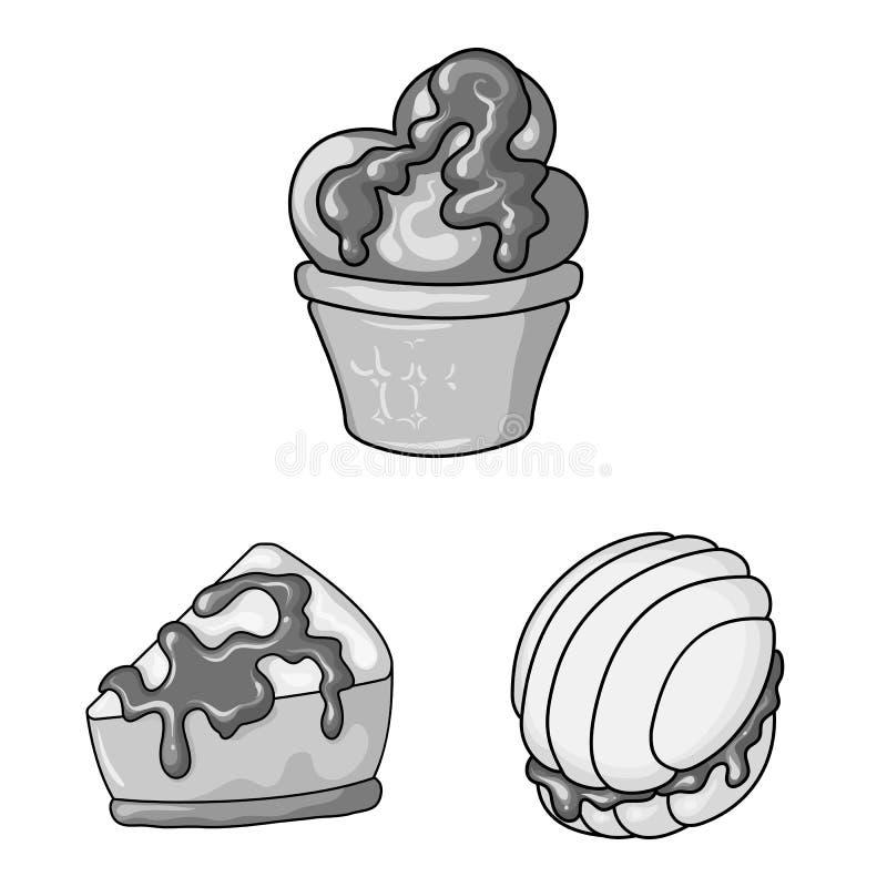 Wektorowy projekt cukierki i karmelu znak Kolekcja s?odki i kulinarny akcyjny symbol dla sieci ilustracji