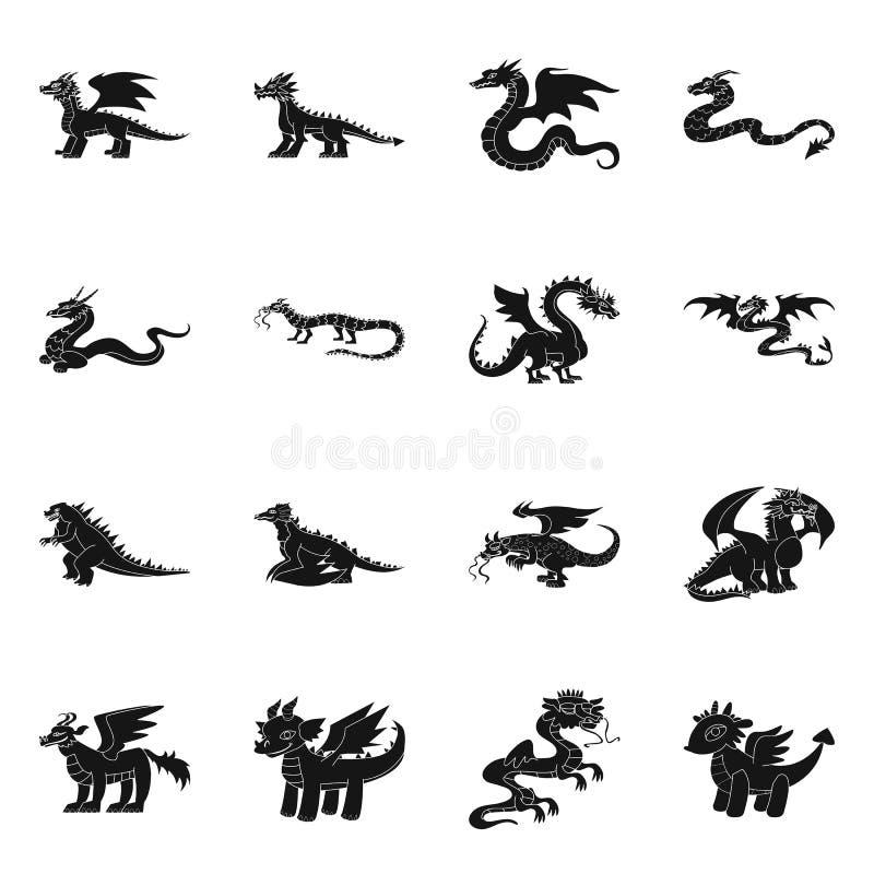 Wektorowy projekt dinosaur i historii ikona Kolekcja dinosaura i zwierzęcia akcyjna wektorowa ilustracja ilustracji