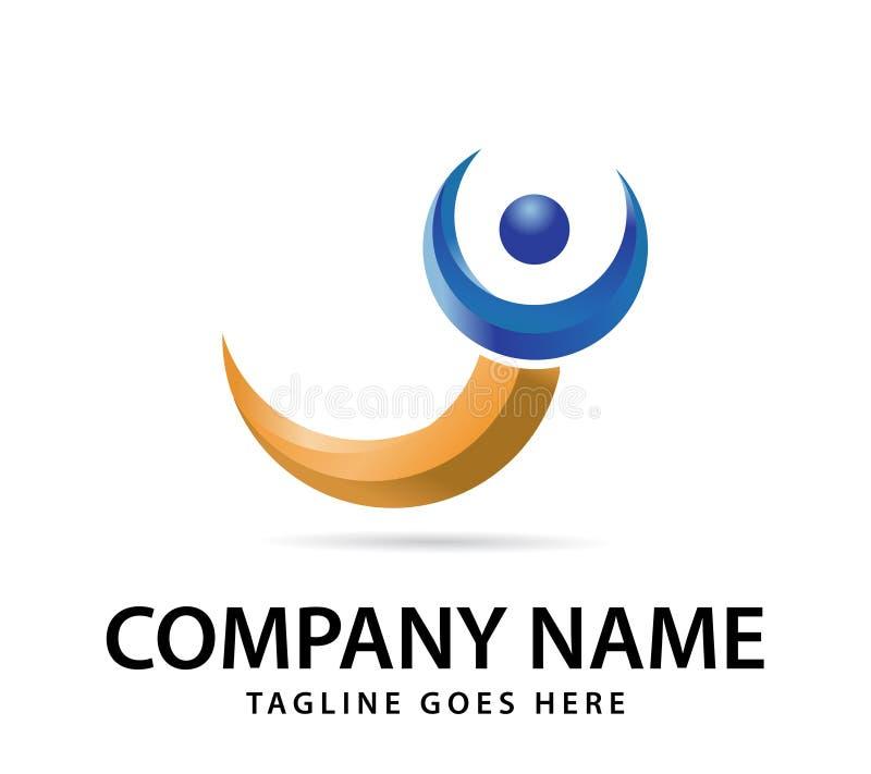 Wektorowy projekt dla twój firma logo, abstrakcjonistyczna kolorowa ikona Nowożytny 3d logotyp, biznesowy korporacyjny wektor royalty ilustracja