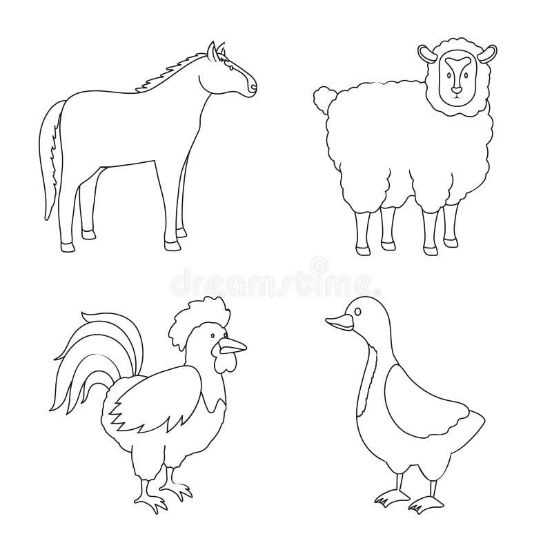 Wektorowy projekt domowej roboty i wie? ikona Set domowej roboty i rolnictwo wektorowa ikona dla zapasu royalty ilustracja