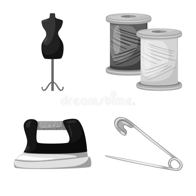 Wektorowy projekt dressmaking i tkanina symbol Set dressmaking i handcraft akcyjn? wektorow? ilustracj? ilustracja wektor