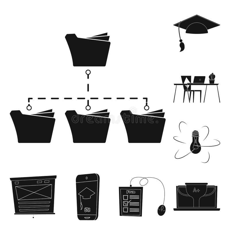 Wektorowy projekt edukaci i uczenie symbol Kolekcja edukacja i szkoły wektorowa ikona dla zapasu ilustracja wektor