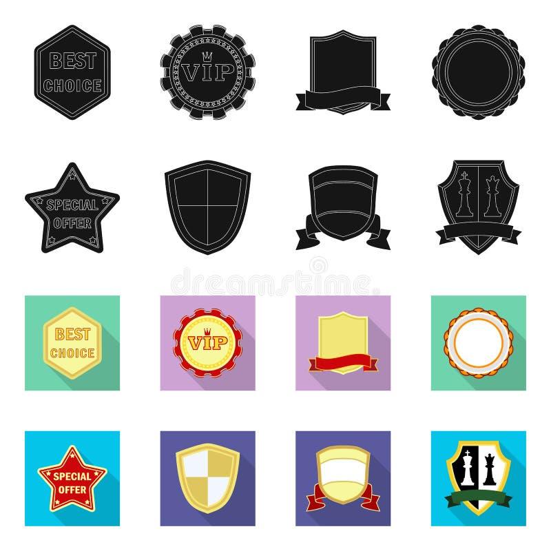 Wektorowy projekt emblemata i odznaki logo Set emblemata i majcheru akcyjny symbol dla sieci royalty ilustracja