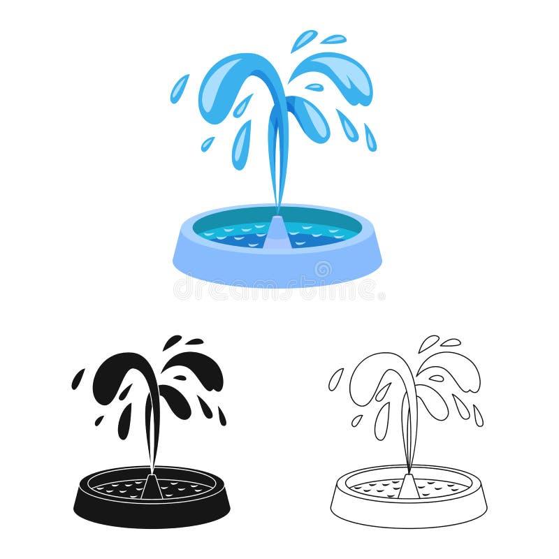 Wektorowy projekt fontanny i wody ikona Set fontanny i rzeźby akcyjny symbol dla sieci ilustracji