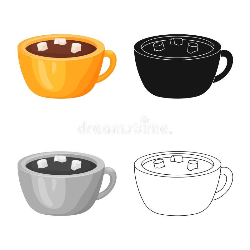 Wektorowy projekt gorący i czekoladowy logo Kolekcja gorąca i ciemna wektorowa ikona dla zapasu royalty ilustracja