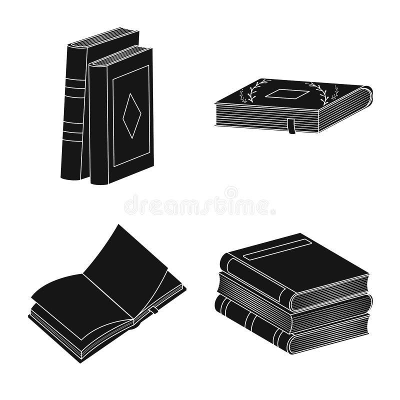 Wektorowy projekt ilustracyjny i ewidencyjny logo Kolekcja ilustracji i bookstore wektorowa ikona dla zapasu ilustracja wektor