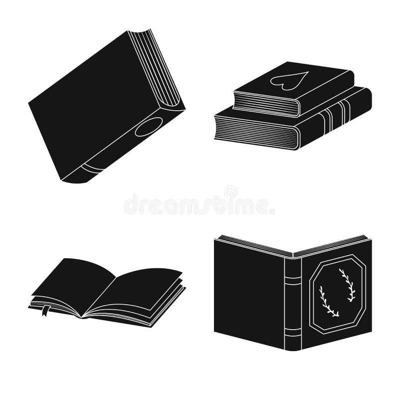 Wektorowy projekt ilustracyjny i ewidencyjny logo Set ilustracji i bookstore akcyjny symbol dla sieci ilustracja wektor