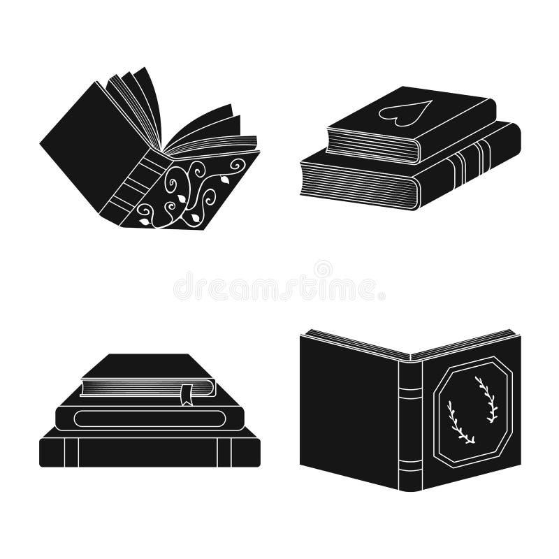 Wektorowy projekt ilustracyjny i ewidencyjny symbol Kolekcja ilustracji i bookstore wektorowa ikona dla zapasu ilustracji