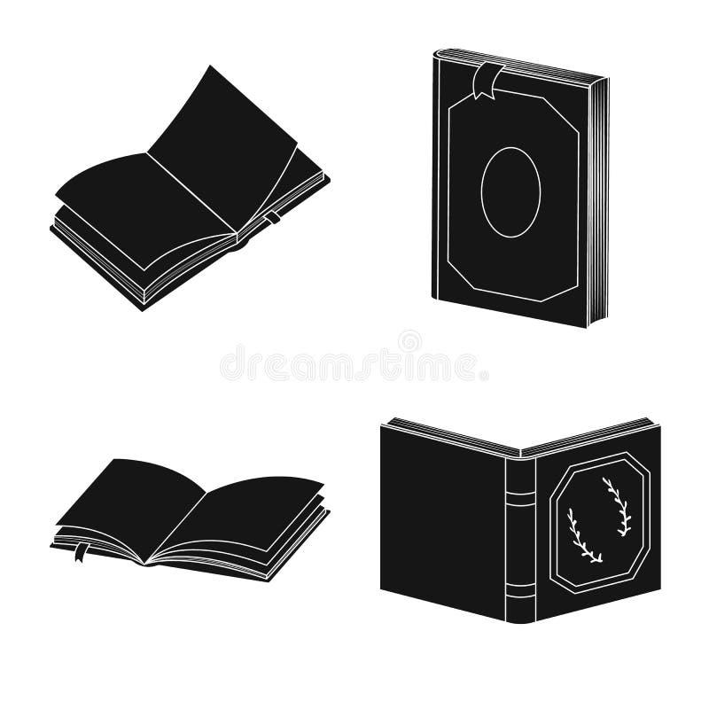 Wektorowy projekt ilustracyjny i ewidencyjny symbol Set ilustracji i bookstore akcyjny symbol dla sieci ilustracja wektor