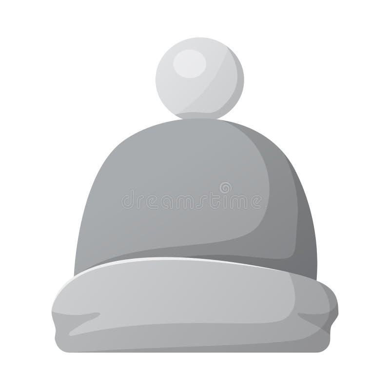 Wektorowy projekt kłobuku i nakrętki logo Kolekcja kłobuku i akcesorium akcyjna wektorowa ilustracja royalty ilustracja