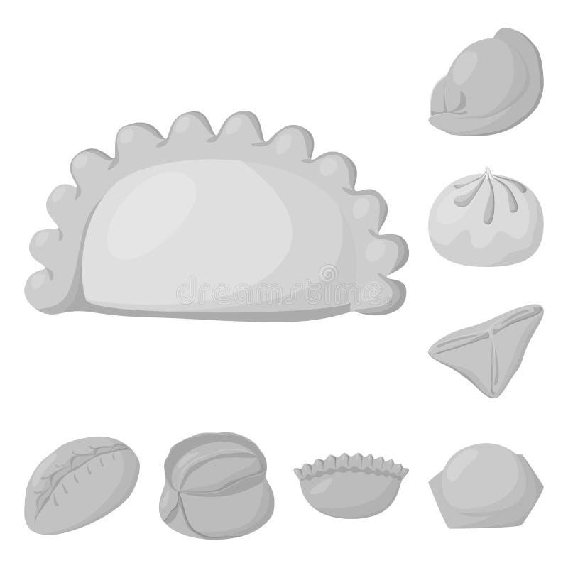 Wektorowy projekt kluchy i faszeruj?cy logo Kolekcja kluchy i naczynie wektorowa ikona dla zapasu ilustracji
