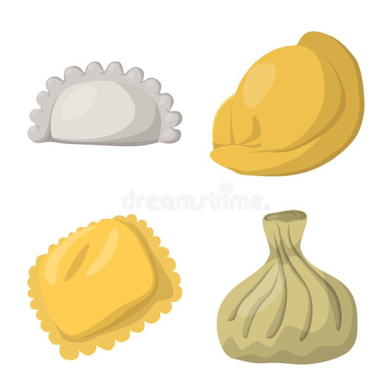 Wektorowy projekt kluchy i jedzenie znak Kolekcja kluchy i faszeruj?ca wektorowa ikona dla zapasu royalty ilustracja
