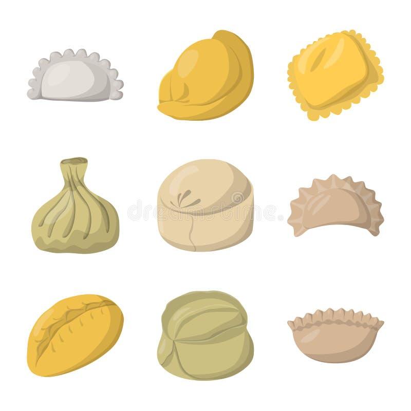 Wektorowy projekt kluchy i karmowy logo Set kluchy i faszerująca wektorowa ikona dla zapasu ilustracja wektor