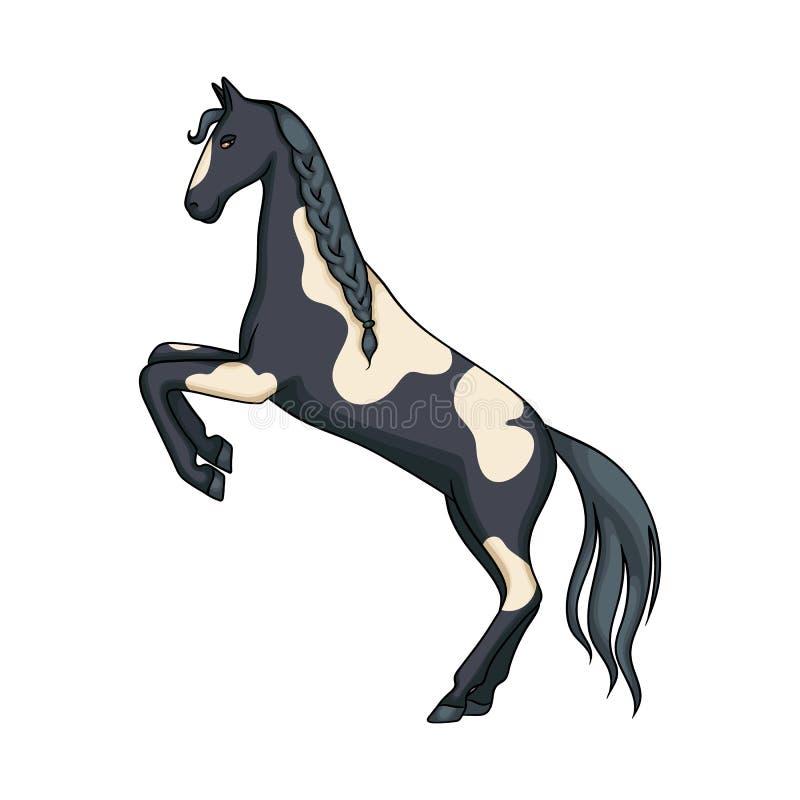 Wektorowy projekt koński i dziki symbol Kolekcja konia i rancho akcyjny symbol dla sieci royalty ilustracja