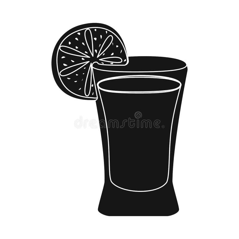 Wektorowy projekt koktajlu i szk?a logo Set koktajlu i cytryny wektorowa ikona dla zapasu ilustracji