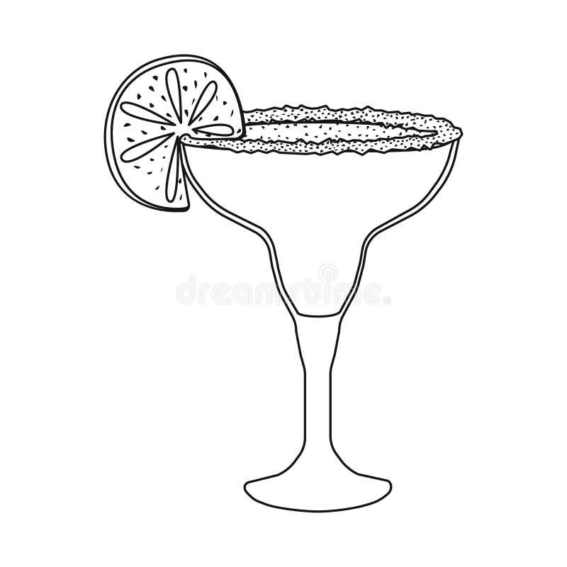Wektorowy projekt koktajlu i szk?a logo Set koktajlu i napoju akcyjna wektorowa ilustracja ilustracji