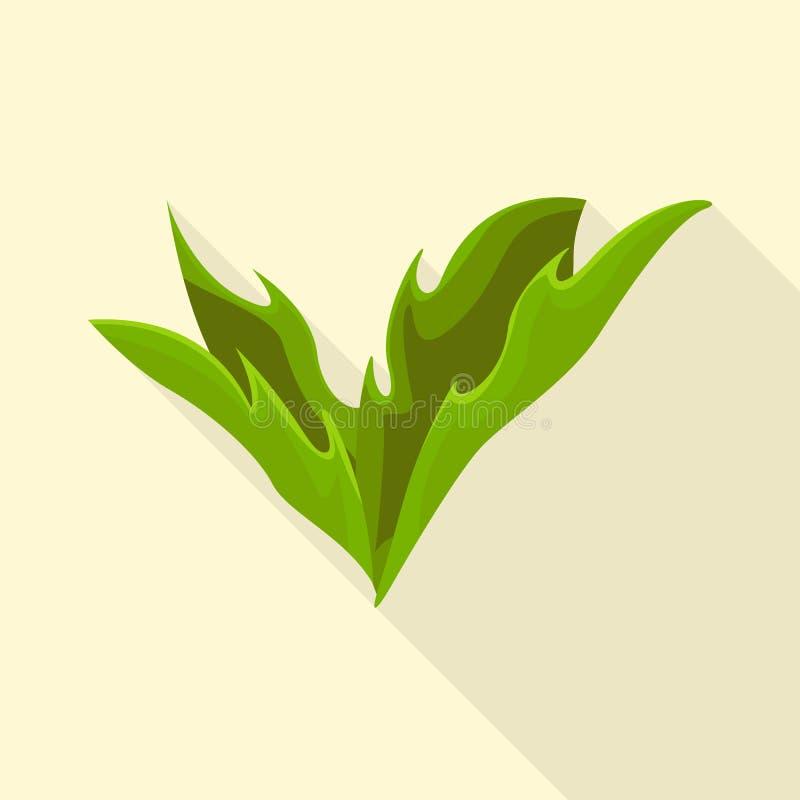 Wektorowy projekt krzaki i zielony logo Kolekcja krzaki i trzon wektorowa ikona dla zapasu ilustracji