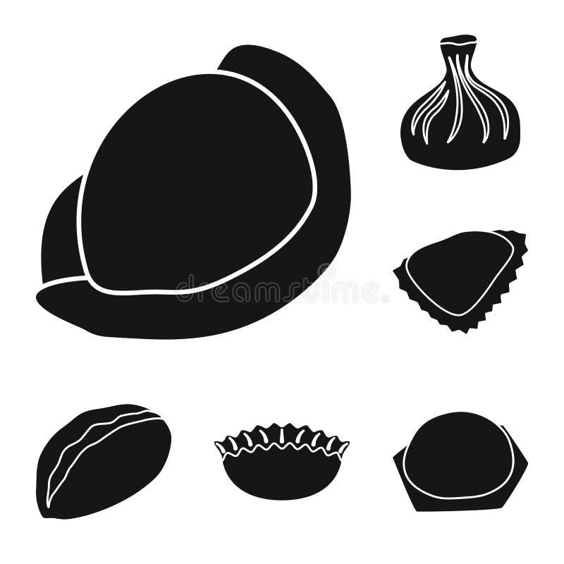 Wektorowy projekt kuchnia i zakąska symbol Kolekcja kuchnia i zapasy żywności symbol dla sieci ilustracja wektor