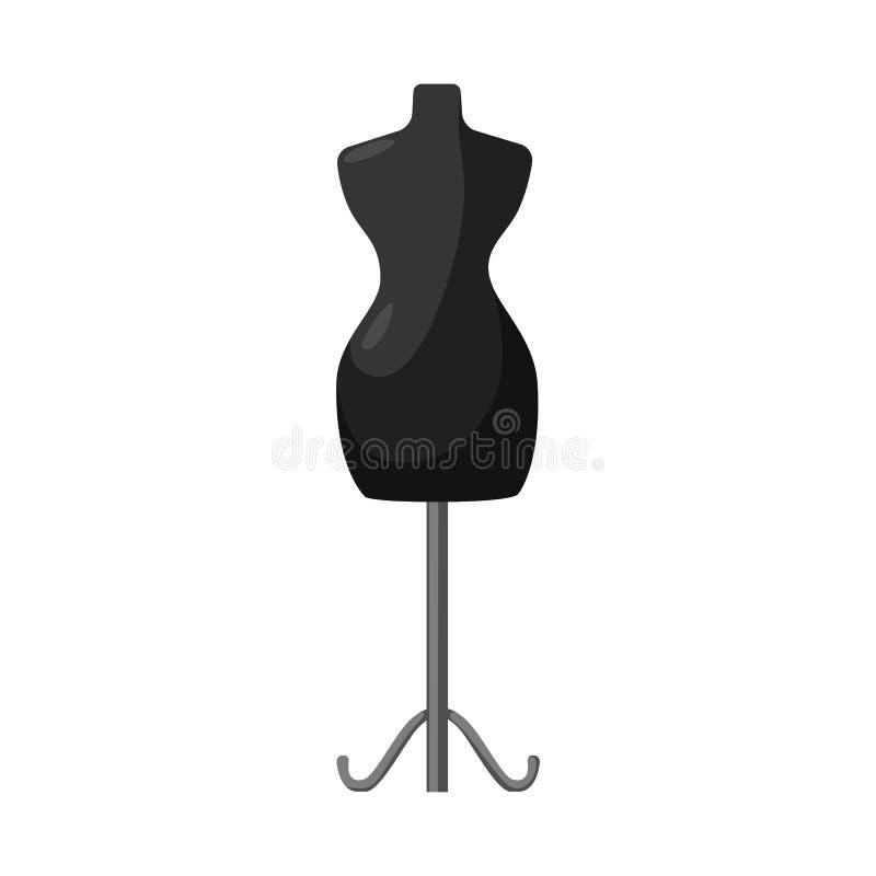 Wektorowy projekt mannequin i krawczyny logo Kolekcja mannequin i manikin wektorowa ikona dla zapasu ilustracji